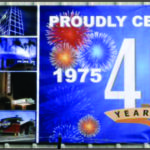 GCS 40th Anniversary Banner and Tote Board